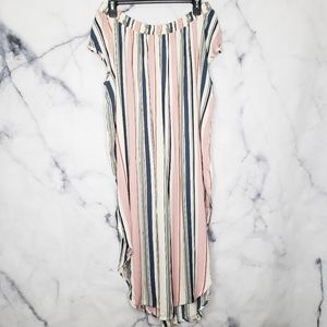 Simon's striped off the shoulder coverup
